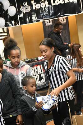 Foot Locker partners with Fred Jordan Missions for the 29th consecutive year donating more than 5,000 shoes to children in need on Skid Row in Los Angeles on Oct. 5, 2017. (PRNewsfoto/Foot Locker, Inc.)