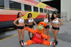 Miami HEAT Dancers and Burnie Welcome BrightRed to South Florida