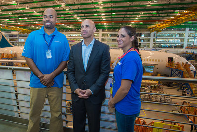 Ambassador Yousef Al Otaiba meets with employees and community leaders at Boeing in Charleston, South Carolina