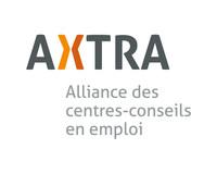Logo : AXTRA | Alliance des centres-conseils en emploi (Groupe CNW/Regroupement québécois des organismes pour le dév. de l'employabilité  (RQuODE))