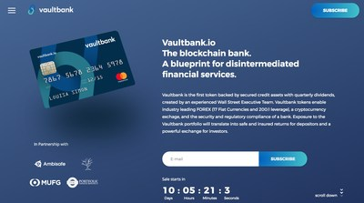 Vaultbank.io Arrives With Ethereum Dividends and Asset-Backed Crypto