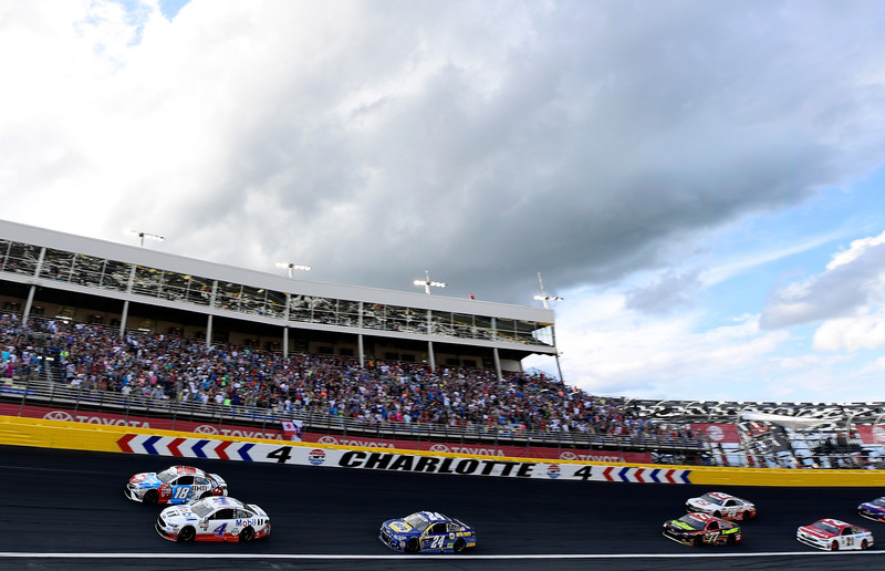 Overcast conditions at Charlotte Speedway