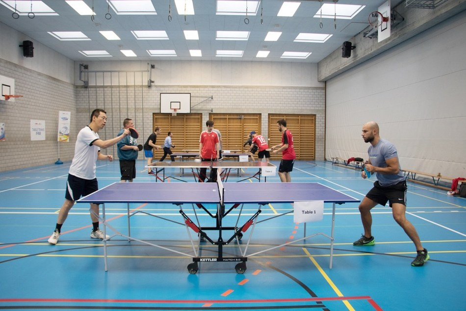 Table tennis match
