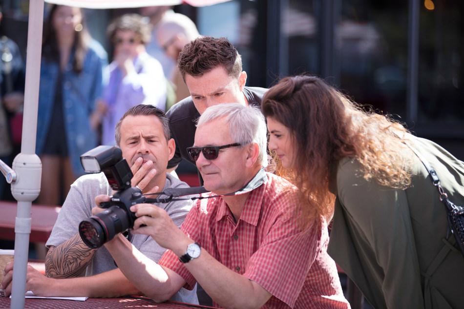 David Birkitt on set with Photographer Martin Parr for Kodak Moments (PRNewsfoto/DMB Represents)