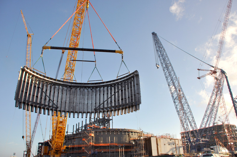 """Workers placed more than 1,800 cubic yards of concreted during the recent """"super placement"""" at the Vogtle nuclear expansion in Georgia"""