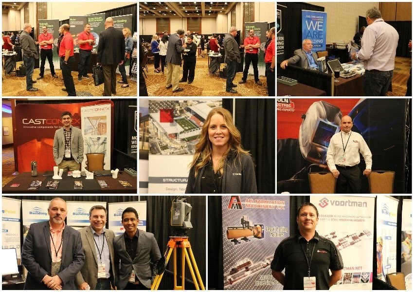 Delegates and exhibitors mingle at the CISC Steel Conference (CNW Group/Canadian Institute of Steel Construction)