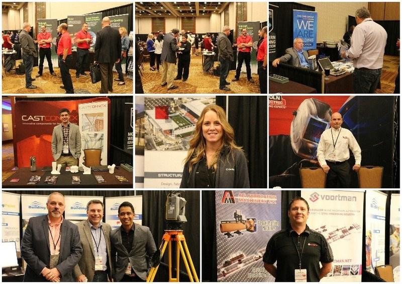 Délégués et exposants échangent à la Conférence canadienne de l'acier de l'ICCA (Groupe CNW/Institut Canadien de la construction en acier)