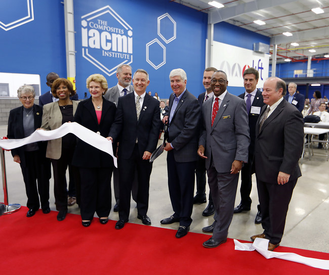 IACMI and LIFT hosted Manufacturing Day at LIFT/IACMI Manufacturing Innovation Facility ribbon cutting event in Detroit, Mich. Friday, Oct. 06, 2017. © Gary Malerba