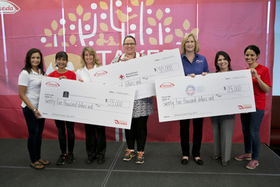 From left to right: Marly Subido, Mothers Trust Foundation; Ramona Sequeira, President, U.S. Business Unit, Takeda; Susan Suhling, Mothers Trust Foundation; Susan Westerfield, American Red Cross; Jamie Nelson, Operation Support Our Troops?America; Evelyn Sanguinetti, Lieutenant Governor, Illinois; Sandy Rodriguez, Vice President, Corporate Communications, Takeda
