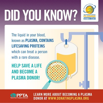 Who can donate plasma? Generally, plasma donors must be 18 years old and weigh at least 110 pounds (50kg). All individuals must pass 2 separate medical examinations, a medical history screening, and testing for transmissible viruses, before their donated plasma can be used to manufacture plasma protein therapies. Learn more about how you can help save and improve lives by becoming a plasma donor at: www.donatingplasma.org #IPAW2017