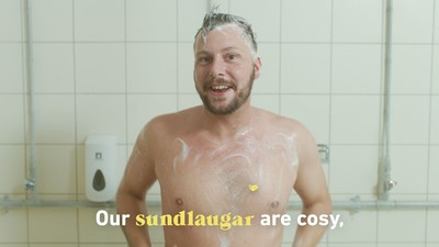 The amusing video shows Icelandic comedian Steindi Jr in a variety of humorous situations (PRNewsfoto/Inspired by Iceland)