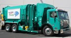 Powered by the Motiv All-Electric Powertrain, the Los Angeles refuse trucks are expected to save the city as much as 6,000 gallons of fuel per year. (PRNewsfoto/Motiv Power Systems)