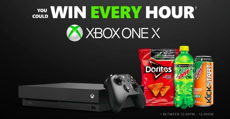 MOUNTAIN DEW AND DORITOS TEAM UP WITH XBOX TO GIVE AWAY AN XBOX ONE X EVERY HOUR (CNW Group/PepsiCo Canada)
