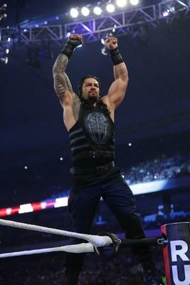 WWE wrestler Roman Reigns in the ring (PRNewsfoto/WWE)