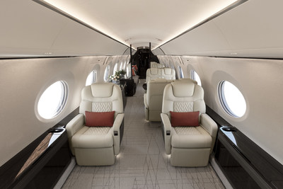 Gulfstream Aerospace Corp. today debuted its fully outfitted Gulfstream G600, revealing a versatile cabin that exemplifies the company's commitment to exceeding customer expectations for customization, flexibility, comfort and craftsmanship. The unveiling took place at the 2017 NBAA Business Aviation Convention & Exhibition (NBAA-BACE) in Las Vegas.