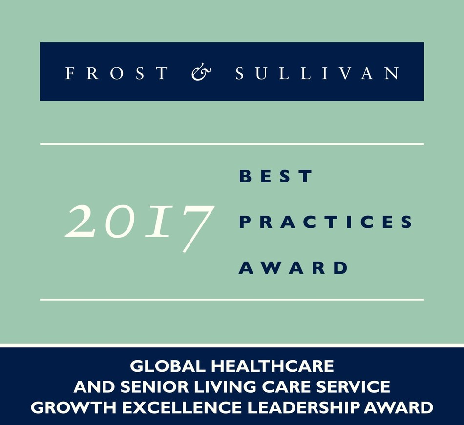 2017 Global Healthcare & the Senior Living Care Service Growth Excellence Leadership Award (PRNewsfoto/Frost & Sullivan)