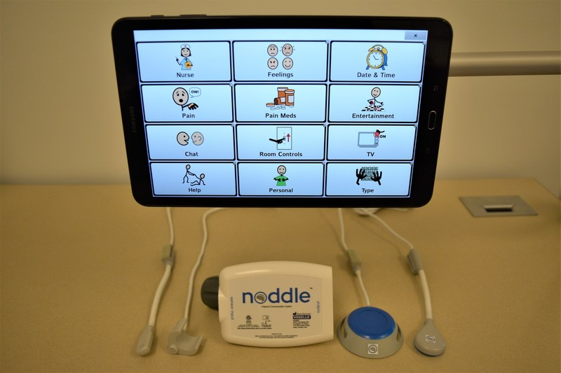 The noddle is a speech generating system for hospitalized children. (photo: Voxello, LLC)