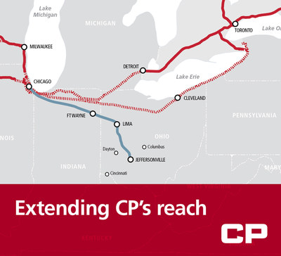 CP today announced a new partnership with Genesee & Wyoming Inc. and Bluegrass Farms of Ohio that will open up the Ohio Valley to CP customers and further extend CP's reach into key North American markets. (CNW Group/Canadian Pacific)