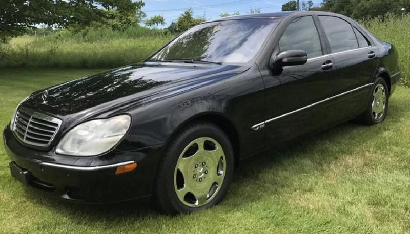 Excellent 2001 Mercedes-Benz S600 sedan, 40,257 original miles, classic black with tan interior. Est. $15,000-$25,000