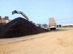 Manganese product stockpile at Porto Velho warehouse (CNW Group/Meridian Mining S.E.)