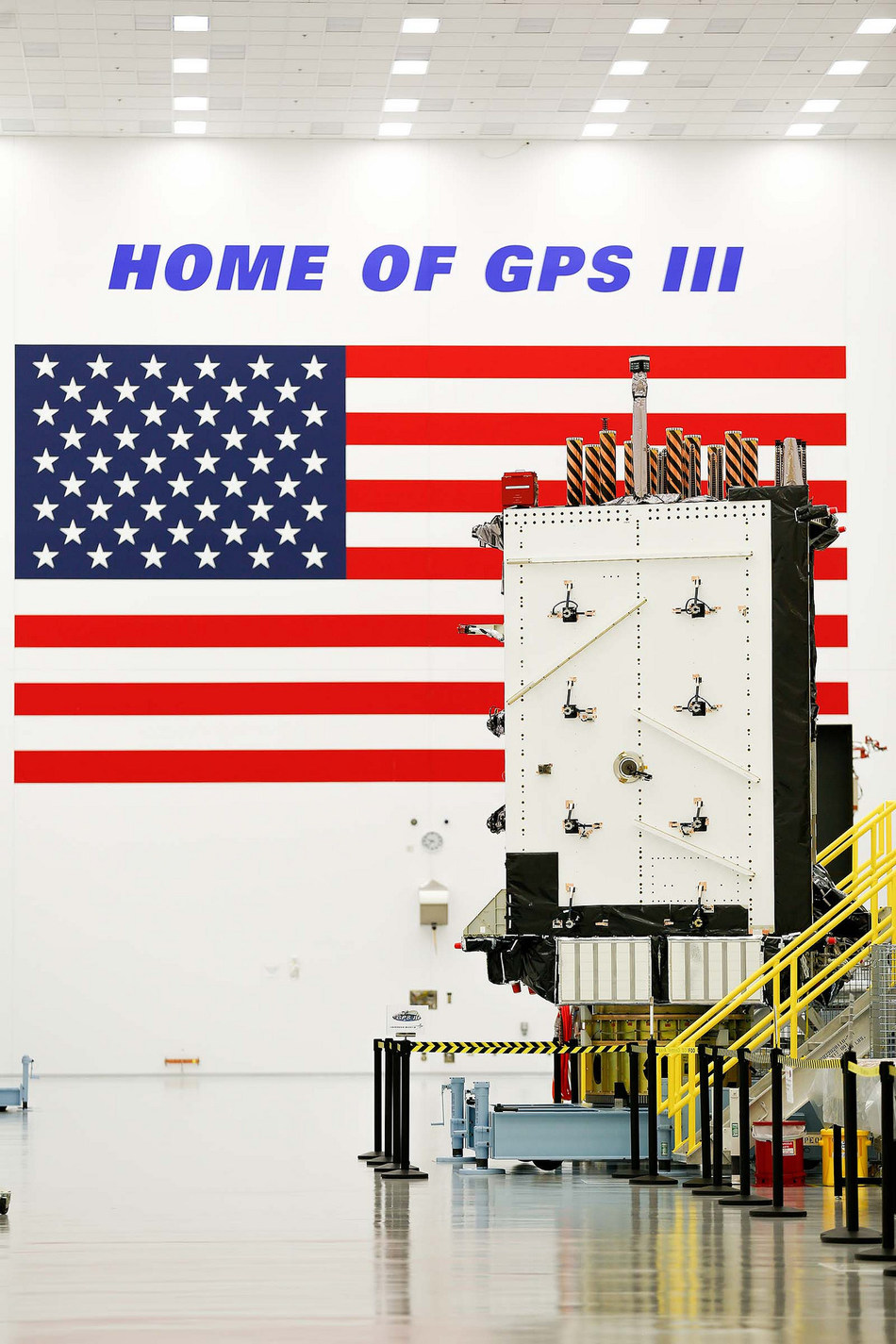 """The U.S. Air Force declared the first Lockheed Martin-built, next-generation GPS III satellite """"Available for Launch"""" in 2018."""