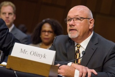 Mark Olinyk testifies in front of the U.S. Senate Agriculture Committee on Energy Issues in the Farm Bill