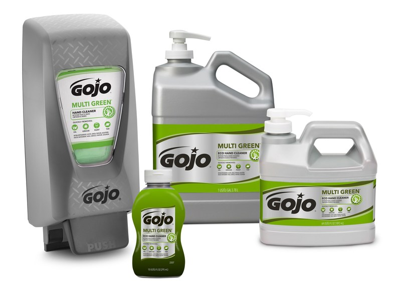 GOJO® MULTI GREEN® Hand Cleaner is a USDA BioPreferred certified product formulated with natural pumice scrubbers to quickly remove oil, grease, paint and tar from hands.