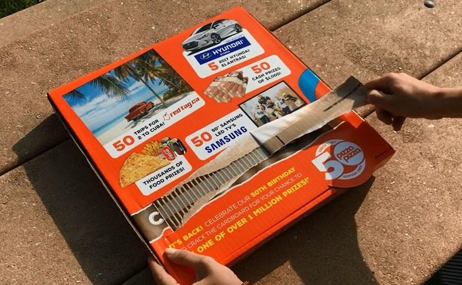 Pizza Pizza relance son populaire concours Déchirez le carton. (Groupe CNW/Pizza Pizza Limited)