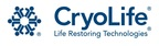 Cryolife logo. (PRNewsFoto/CryoLife, Inc.) (PRNewsFoto/CRYOLIFE_ INC_) (PRNewsFoto/CRYOLIFE, INC.)