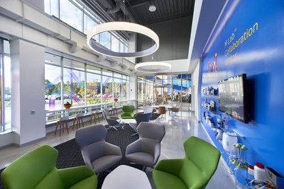 MilliporeSigma's new campus features an M Lab Collaboration Center, a shared exploratory environment where the companys scientists and engineers work with customers to learn about the latest techniques in biomanufacturing