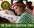 Mount Hood Railroad's Train to Christmas Town is ready to depart from Hood River, OR