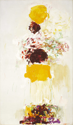 Joan Mitchell, Untitled, about 1969. Oil on canvas, 194.8 × 113.7 cm. Private collection, Paris © Estate of Joan Mitchell. Photo: Patrice Schmidt (CNW Group/Musée national des beaux-arts du Québec)