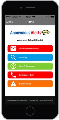 Anonymous Alerts' Anti-Bullying Mobile App Is Implemented by Over 32 Texas School Districts in Under 60 Days