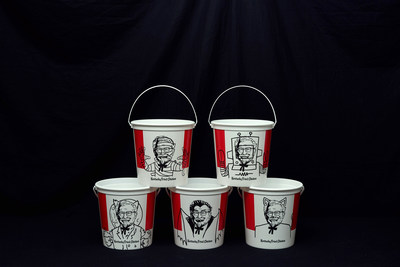 The limited-edition KFC buckets are made of durable plastic designed to hold your favorite candy while displaying your love for your favorite fried chicken. The Halloween buckets come in five different designs, featuring the Colonel dressed in Halloween costumes, including: mummy, astronaut, cat, firefighter, pirate, cowboy, werewolf, robot and vampire.