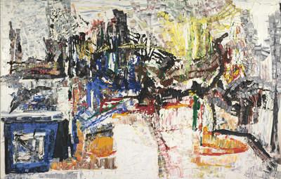 Jean-Paul Riopelle, Untitled, about 1968. Oil on canvas, 200 × 300 cm. Private collection © Succession Jean Paul Riopelle / SODRAC (2017). Photo: Musée national des beaux-arts du Québec, Idra Labrie (CNW Group/Musée national des beaux-arts du Québec)