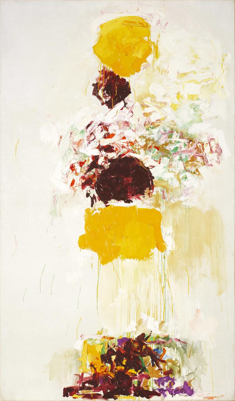 Joan Mitchell, Sans titre, vers 1969. Huile sur toile, 194,8 × 113,7 cm. Collection particulière, Paris © Estate of Joan Mitchell. Photo : Patrice Schmidt (Groupe CNW/Musée national des beaux-arts du Québec)
