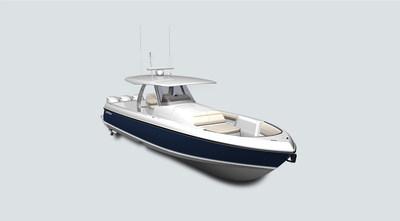 Rendering of the new Intrepid Powerboats 407 Panacea