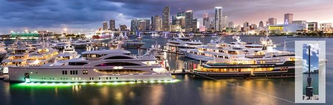 Inscape Data's Outdoor PoE Switch in the Marina, Miami, FL.