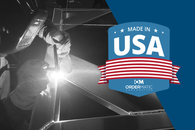 Skilled worker welding American-Made products.