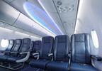 Le nouvel avion Boeing 737 MAX offre l'agencement Sky Interior qui comprend de plus grands compartiments de rangement supérieurs, des parois latérales sculptées et un éclairage DEL visant à créer une expérience invité plus agréable tout au long d'un vol. (Groupe CNW/WestJet)