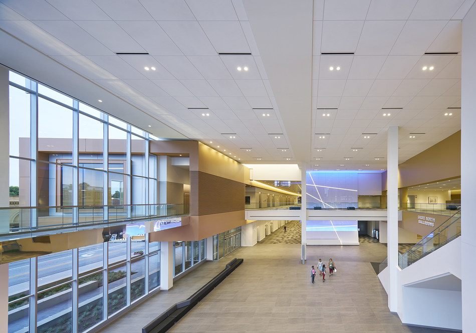 Greater Columbus Convention Center Expansion and Renovation. Interior view. Image © Christopher Barrett.