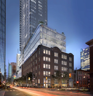 The new Thomson Reuters Technology Centre will be located at Duncan House (19 Duncan Street) in Toronto's Entertainment District. (CNW Group/Thomson Reuters)