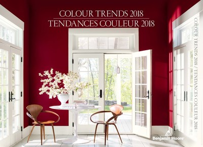 Benjamin Moore, North America's favourite paint, colour and coatings brand, declared its Colour of the Year 2018 – Caliente AF-290, a vibrant, charismatic shade of red. (CNW Group/Benjamin Moore)