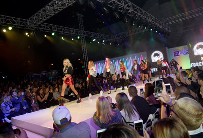 A late-night runway show modeled through the lens of