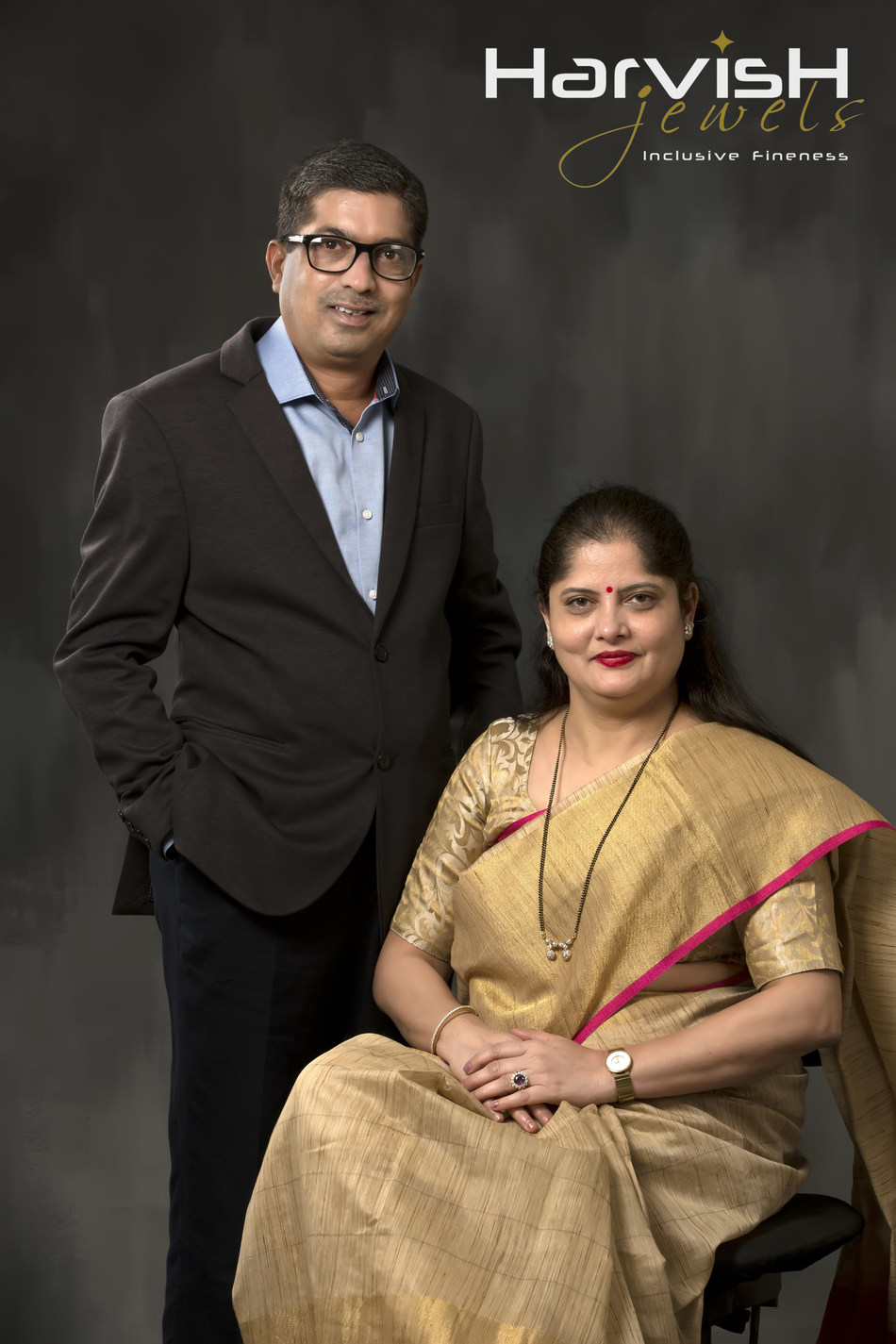 Ms. Vaishali Soni ( Director) and Mr. Harshad Soni ( Director), Harvish Jewels, Vadodara, Gujarat (PRNewsfoto/Harvish Jewels)