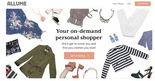 Allume is a new, on-demand personal shopping service that matches women with experienced stylists who help them find clothing and accessories that fit their body, budget and style