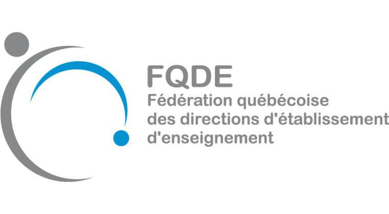 Logo : Fédération québécoise des directions d'établissement d'enseignement (FQDE) (Groupe CNW/Fédération québécoise des directions d'établissement d'enseignement (FQDE))