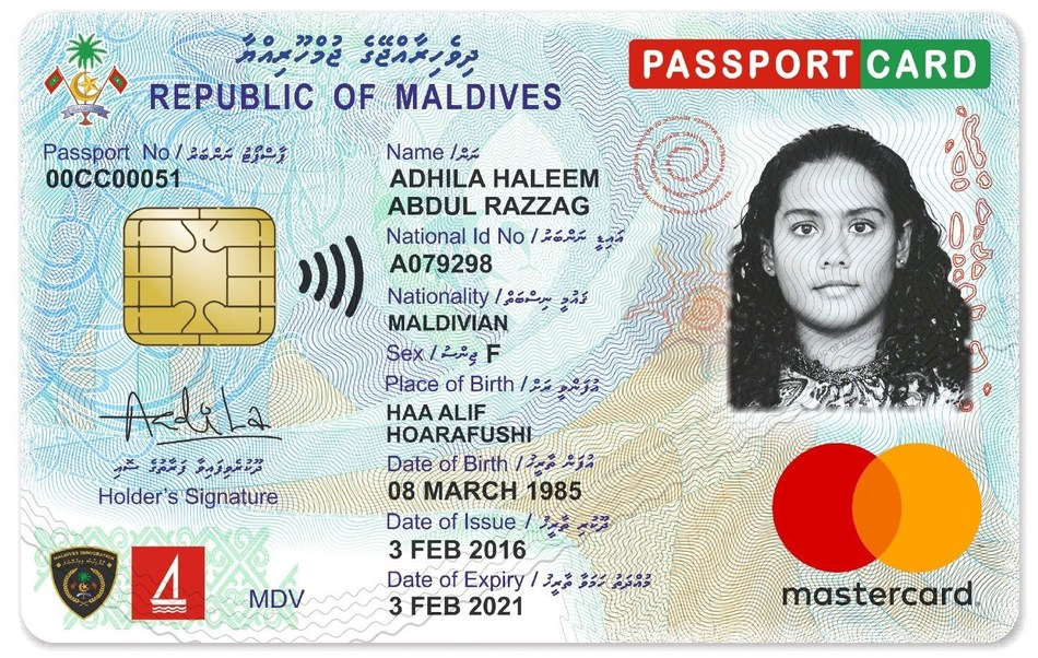 Maldives introduces most innovative ID Card (PRNewsfoto/DERMALOG Identification Systems)