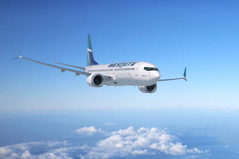 WestJet a dévoilé son premier appareil Boeing 737 MAX le 10 octobre 2017 sur son campus de Calgary. (Groupe CNW/WestJet)