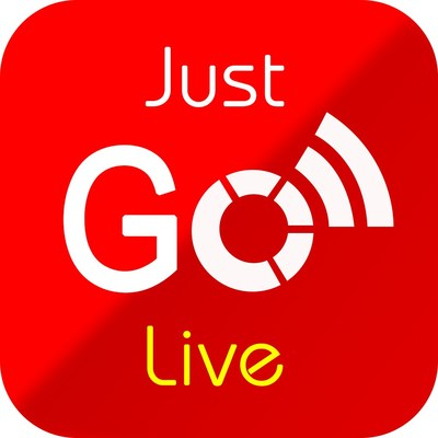 Just Go Live App Logo (PRNewsfoto/Just Go Live Inc.)
